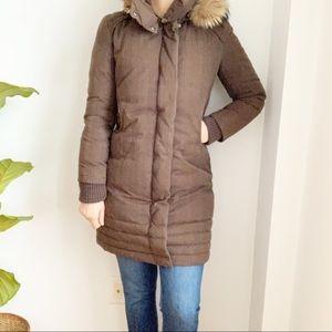 Soia & Koy Parka Winter Jacket Brown Hooded Size M